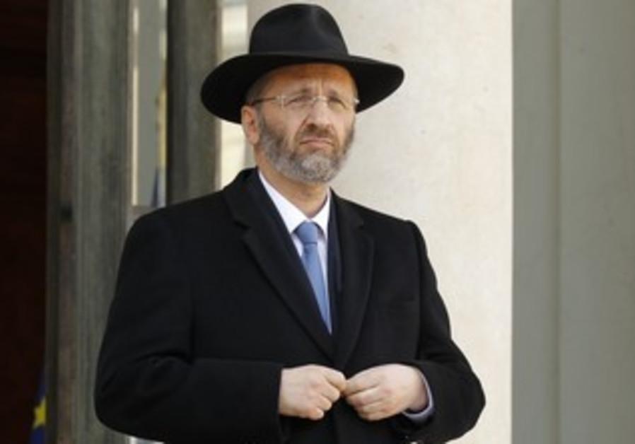 French chief rabbi Gilles Bernheim.