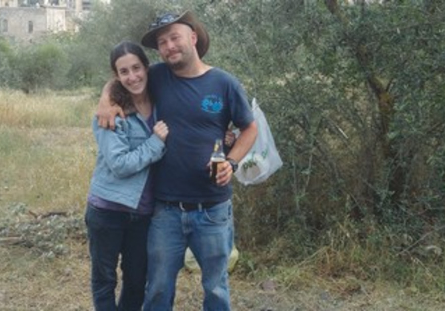 YAEL GLUCK and fiancé Avi Margolin mark Israel's 65th Independence Day at Sacher Park in Jerusalem