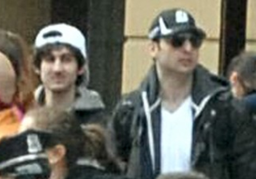 Suspects wanted for questioning in relation to the Boston Marathon bombing seen in handout photo.