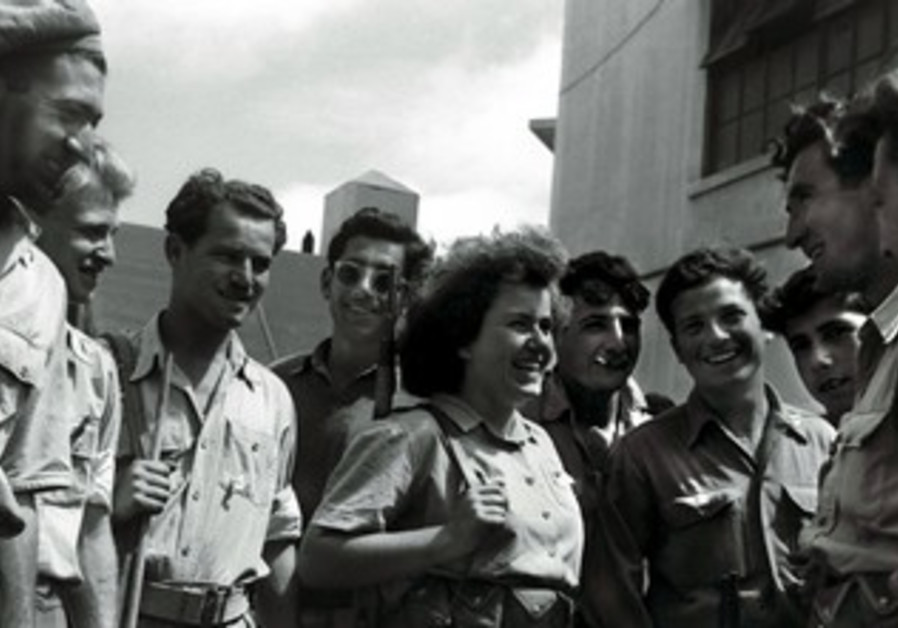 Hagana fighters the day after Israel declared a state, May 14, 1948