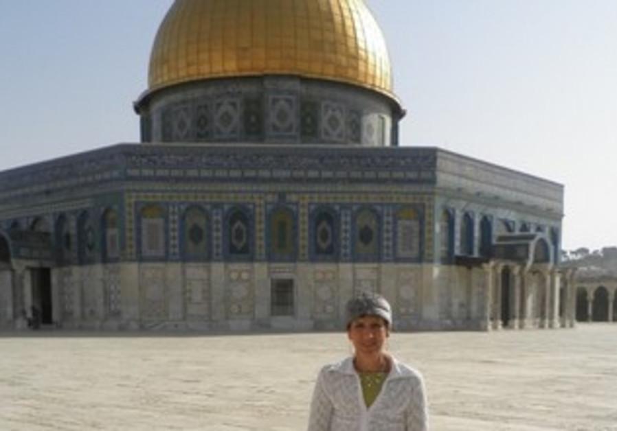 Bayit Yehudi MK Shuli Muallem on Temple Mount, April 30, 2013.
