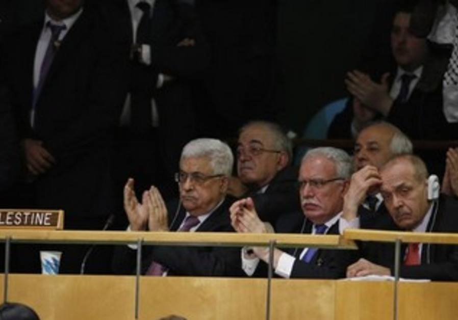 Palestinian UN delegation applaud as Palestine is deemed 'non-member state' in 2012