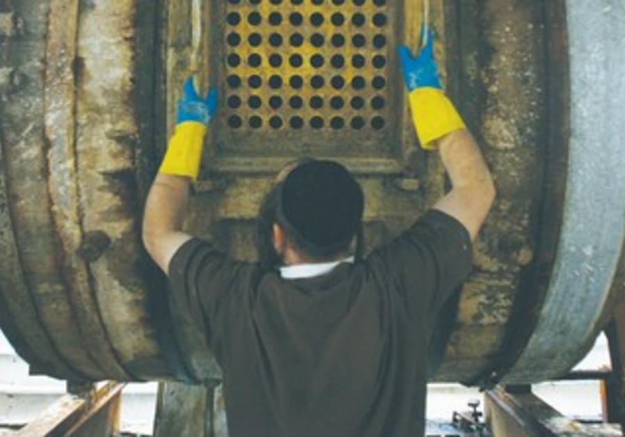 Haredi man hard at work