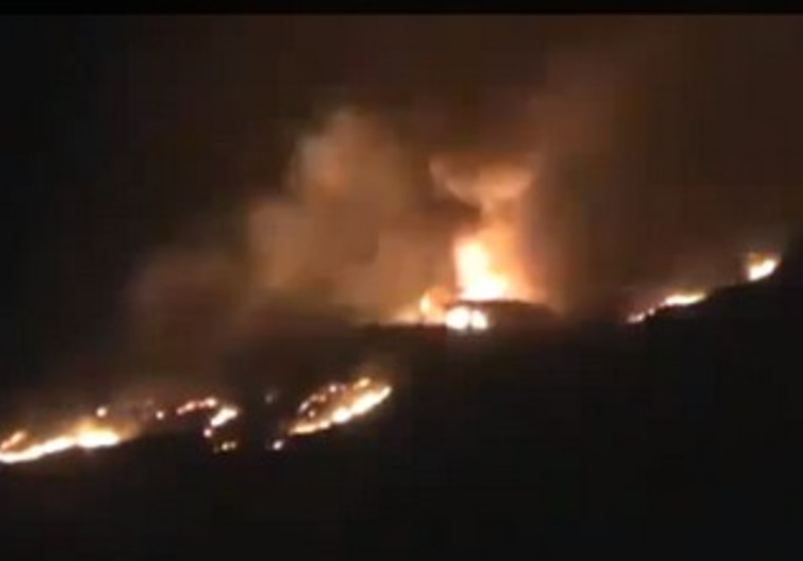A screenshot from footage claimed to be of an alleged Israeli air strike in Syria, May 5, 2013.