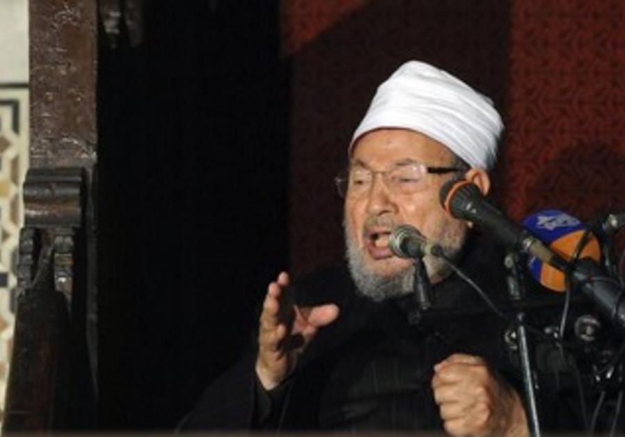 Egyptian Cleric Sheikh Yusuf al-Qaradawi, chairman of the International Union of Muslim Scholars