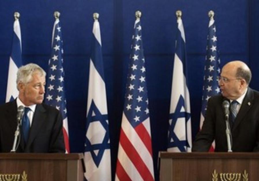 Chuck Hagel and Moshe Yaalon discuss the Iranian nuclear threat