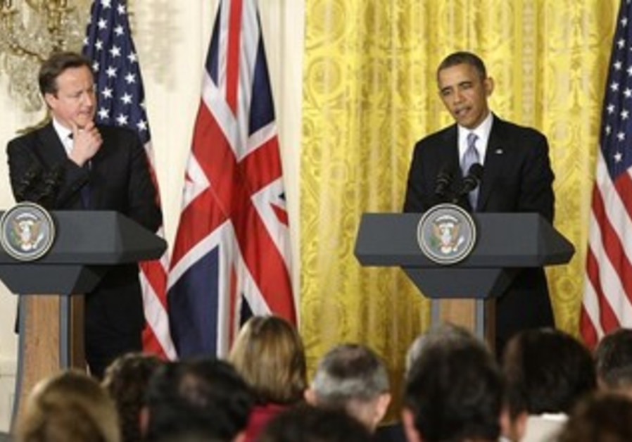 US President Barack Obama and UK Prime Minister David Cameron hold joint press conference, May 13