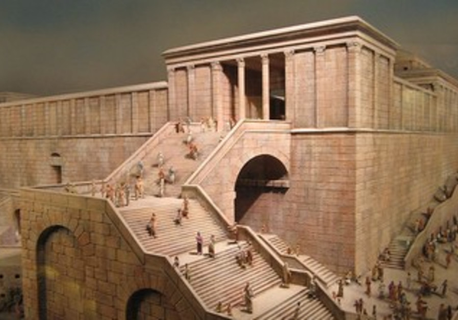 Reconstruction model of Ancient Jerusalem in Museum of David Castle