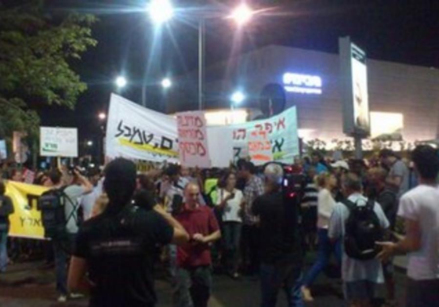 Social justice protestors in Tel Aviv