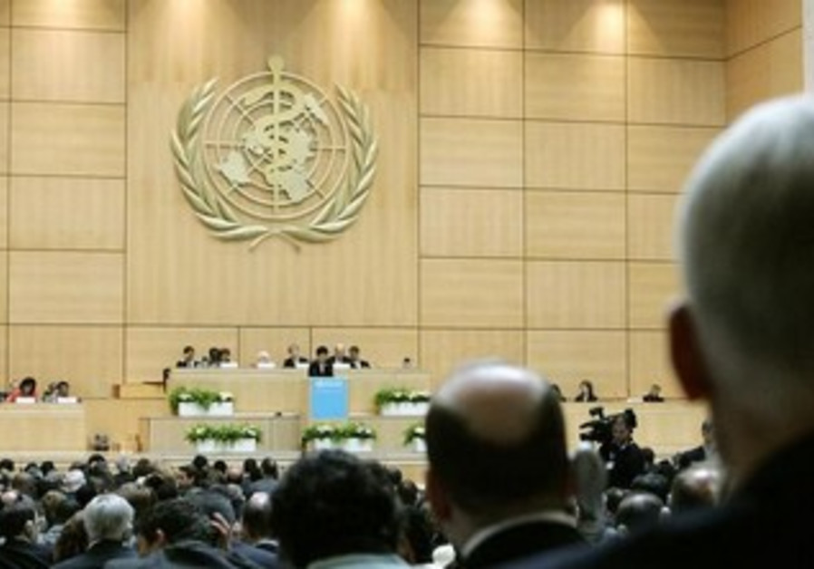 World Health Organisation 60th World Health Assembly at the United Nations headquarters in Geneva.