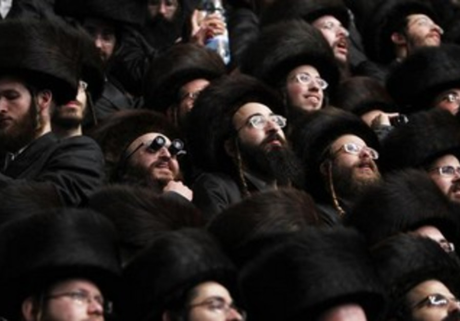 Wedding of Hasidic dynasty heir Rabbi Shalom Rokeach in Jersalem, May 22, 2013.