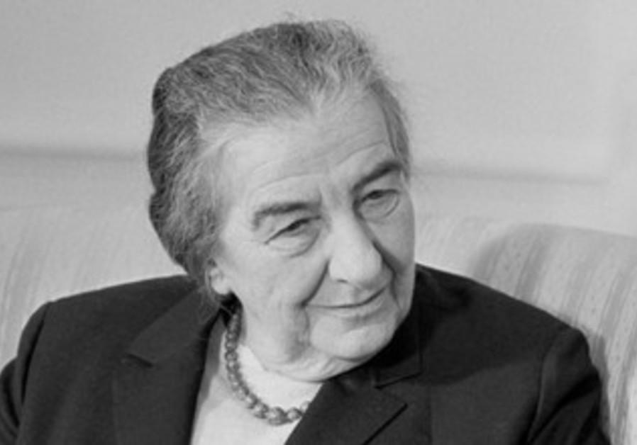 Former Israeli prime minister Golda Meir.