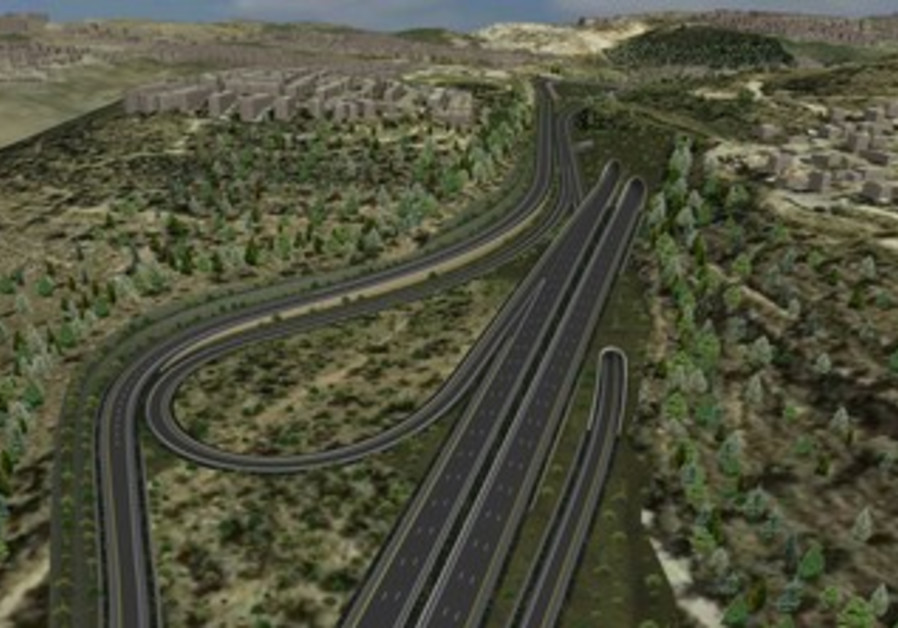 Projection of Road 1 project.