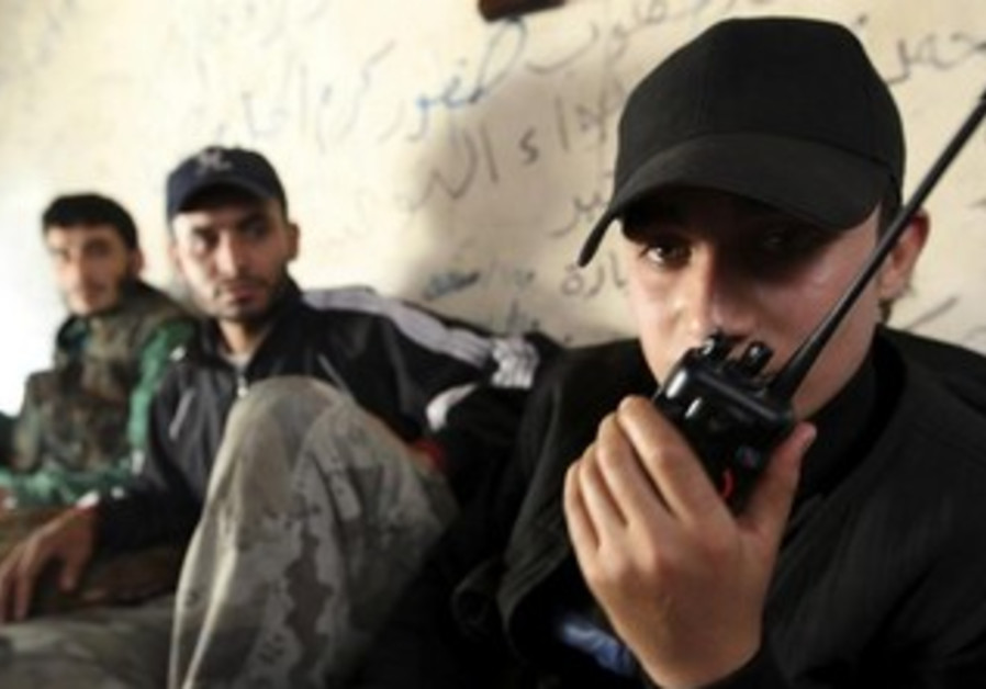 Syrian rebels, on the radio, hope for arms shipments soon.
