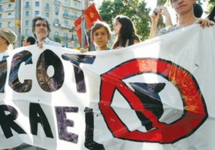 Pro-Palestinian protesters hold a banner