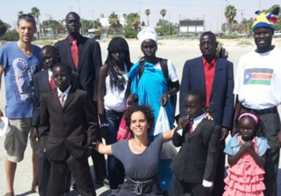 The Reece Family of South Sudan with Israeli activists.