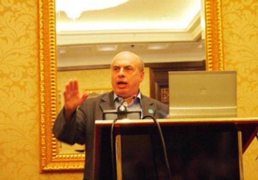 Natan Sharansky speaking at the JAFI BOG in Kiev on Sunday