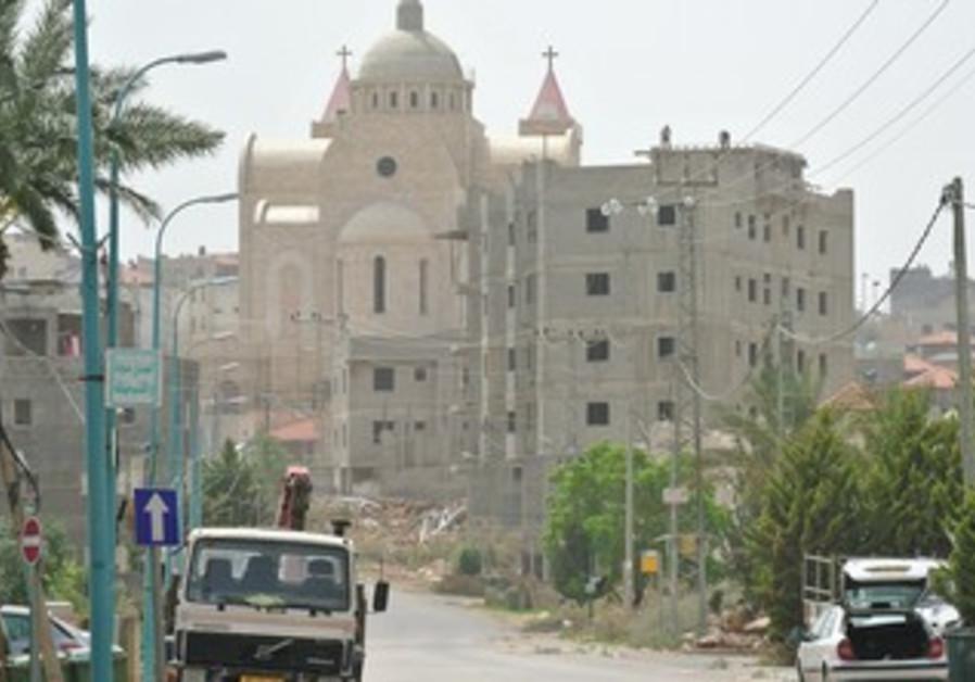 A CHURCH in the Arab village of Sakhnin.