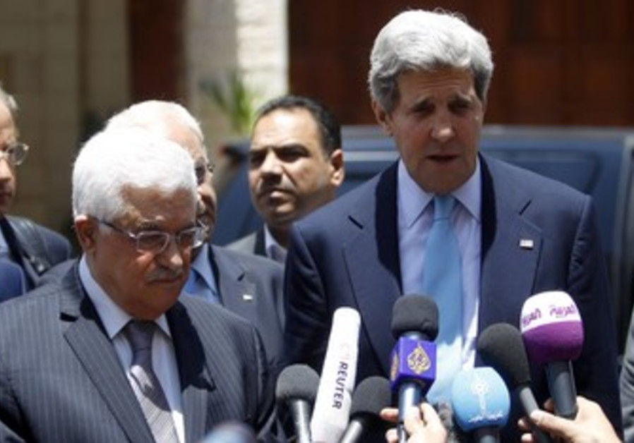 Kerry and Abbas in Ramallah, June 30, 2013