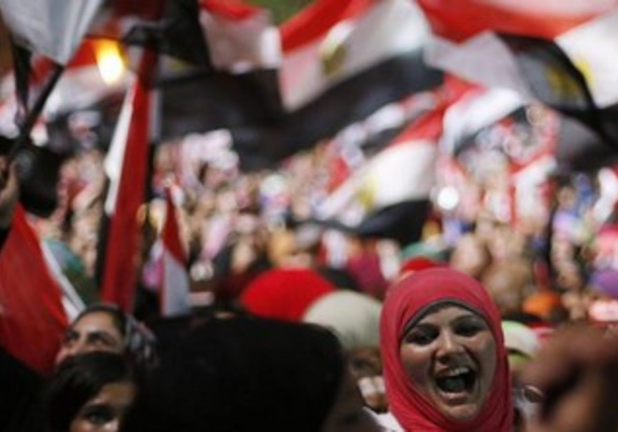 Celebrations in Tahrir Square, July 3, 2013.