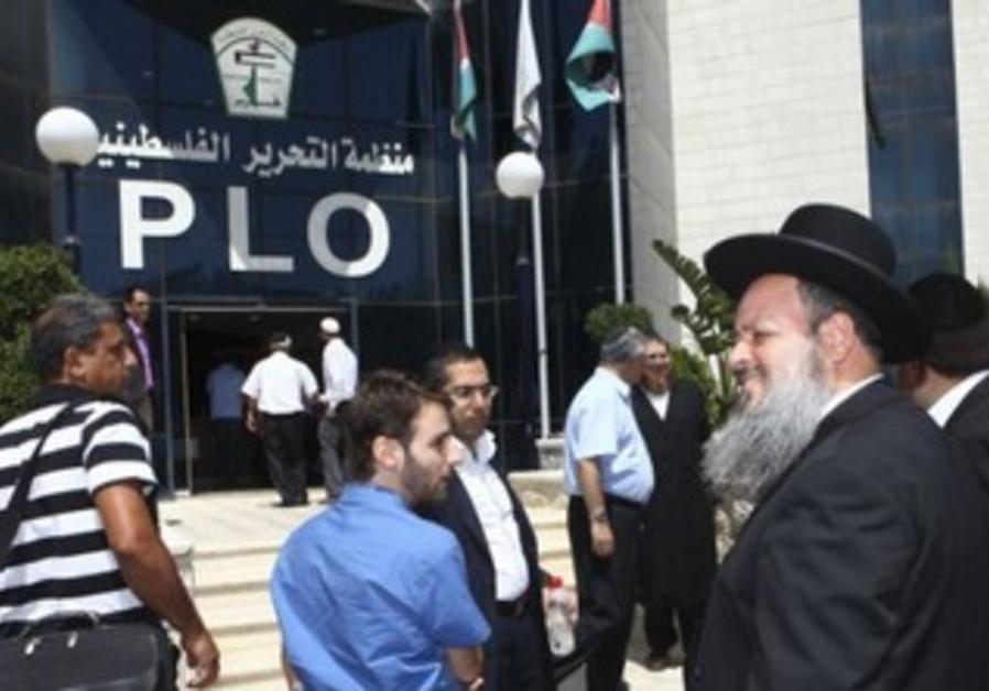 Rabbi Menashe Zlika (Shas) in Ramallah Sunday.