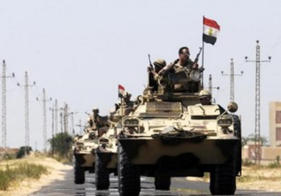 Egyptian army near El-Arish in the Sinai peninsula, May 21, 2013.