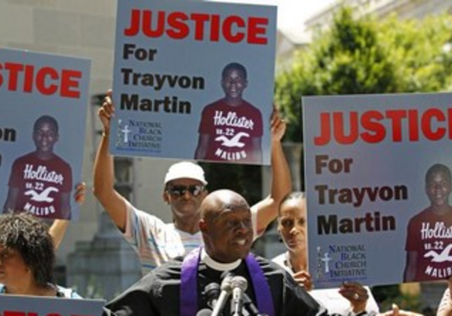 Demonstration asking for justice for Trayvon Martin