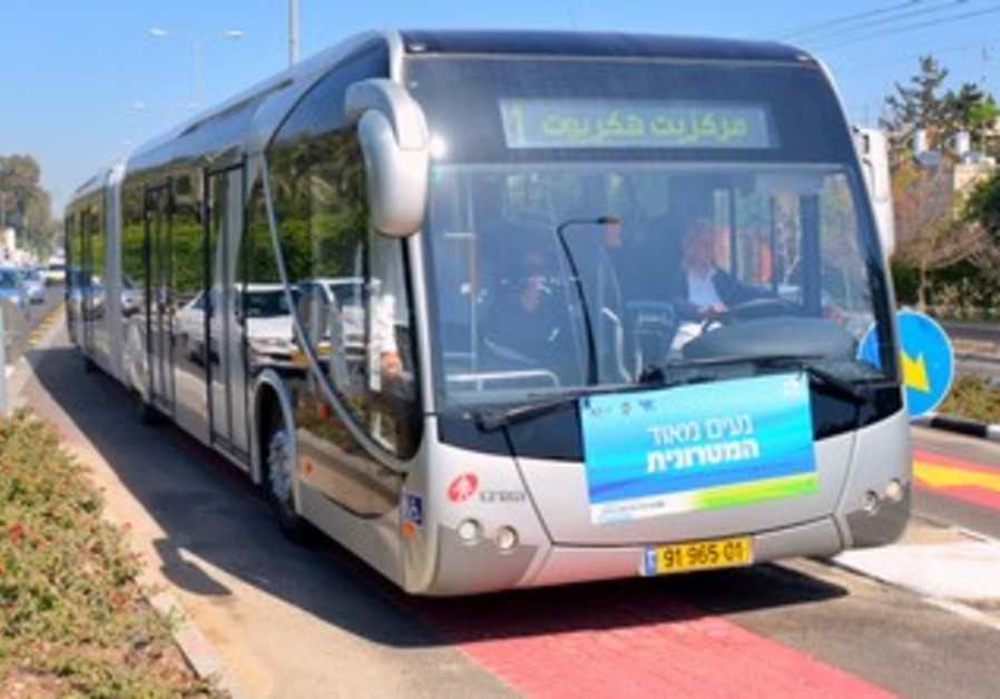 The Matrionit, a new public transport system in the Haifa region.