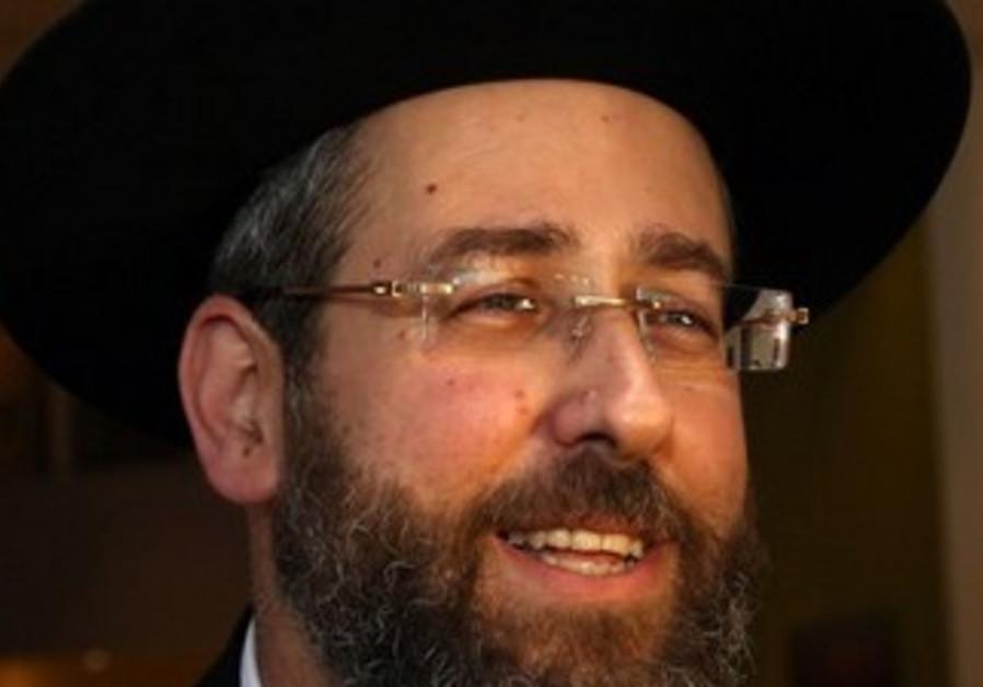 Ashkenazi Chief Rabbi David Lau.