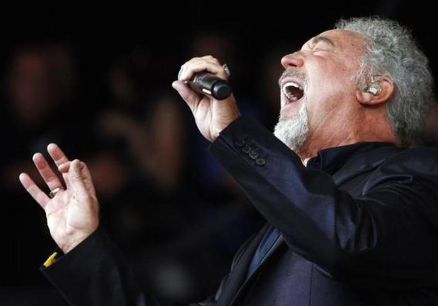 Tom Jones performing at Glastonbury, June 2009.