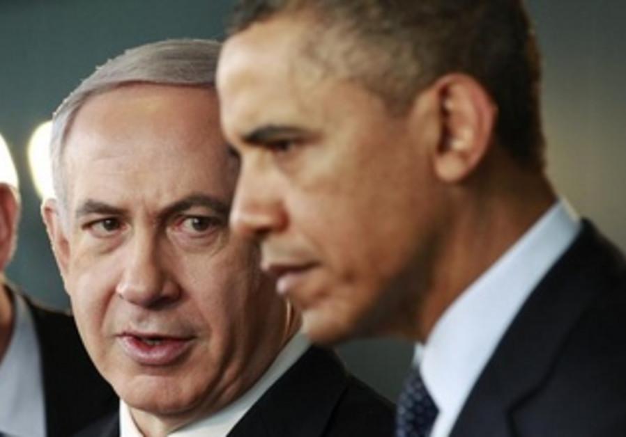U.S. President Obama and Israeli Prime Minister Netanyahu