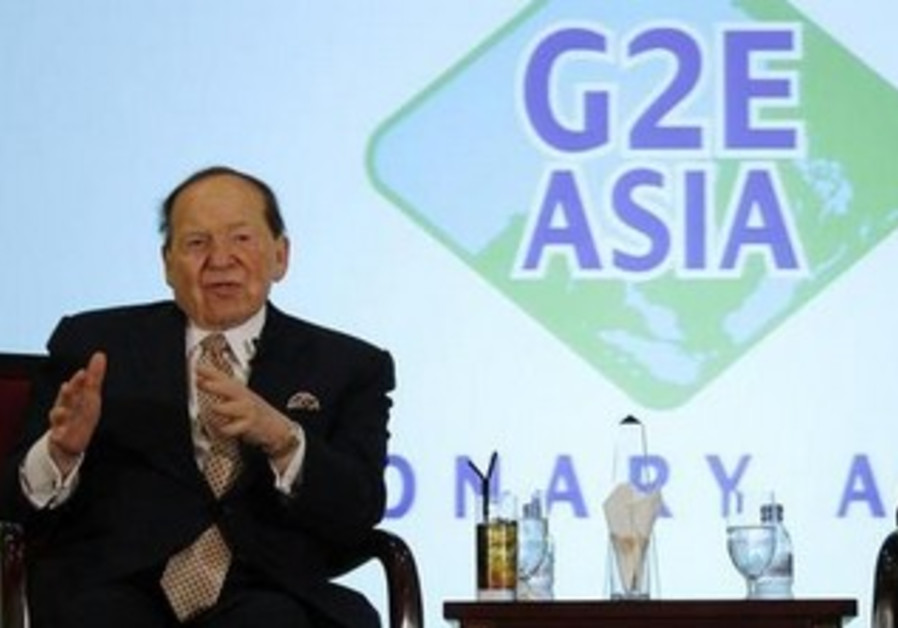 Sheldon Adelson during a luncheon at Gaming Expo Asia in Macau June 8, 2011.