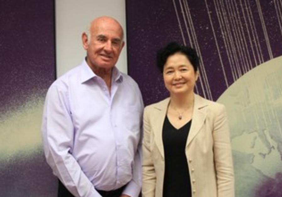 Minister Peri  and Chinese Ambassador Gao Yanping.