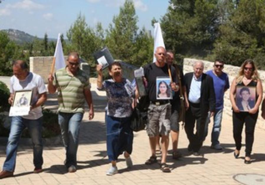 Almagor Terror Victims Association protest prisoners release.