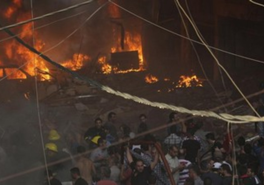 Explosion in south Beirut near Hezbollah stronghold, August 15, 2013.