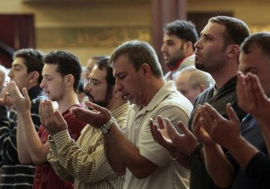 Muslim-American men perform afternoon prayers [file]