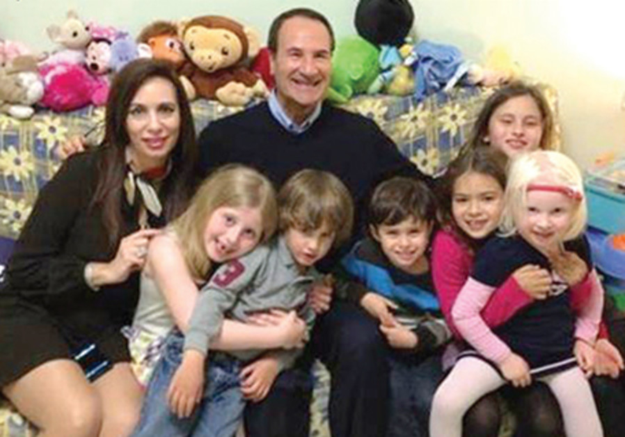 Tal and Tirza Brody with their grandchildren.