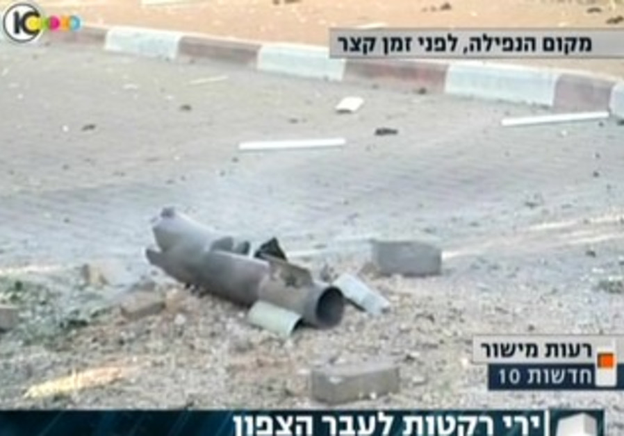 Three to four rockets were fired at Israel from south Lebanon, August 22, 2013.