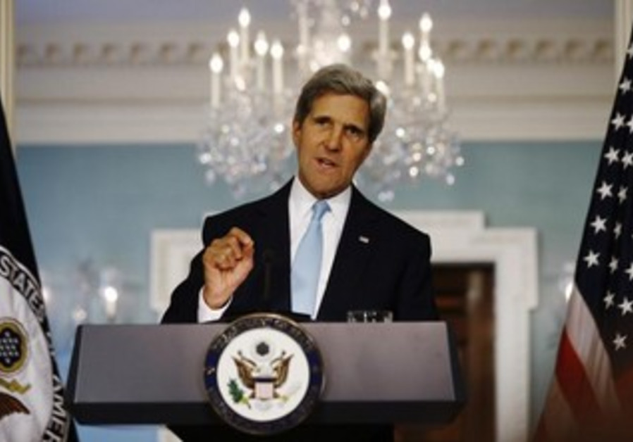 US Secretary of State John Kerry talking about possible US strike in Syria, August 30, 2013.