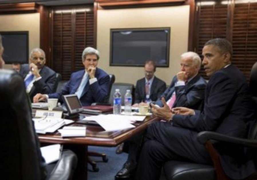 Obama meets natioanl security team at White House, August 31, 2013