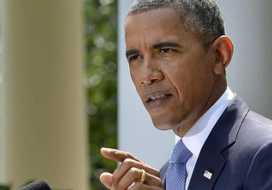 US President Barack Obama makes remarks on the Syria crisis, August 31, 2013.