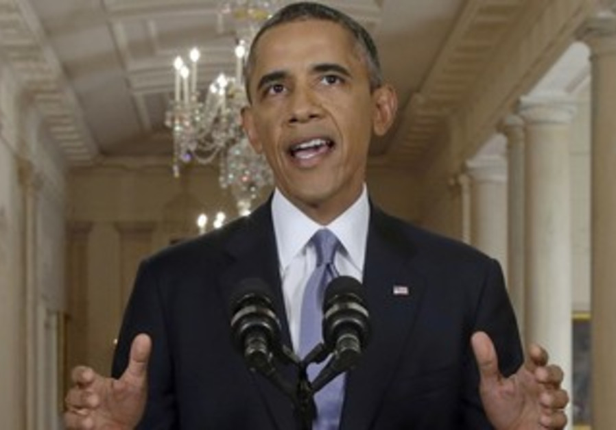 US President Obama addresses the nation about the situation in Syria from the White House, Sept 10