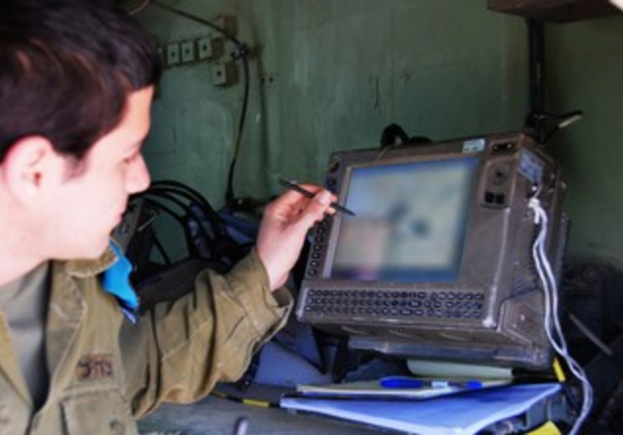 IDF soldier uses Digital Ground Army command-and-control system