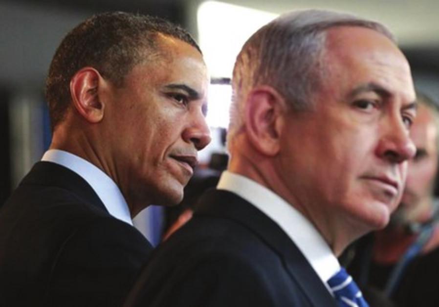 Prime Minister Binyamin Netanyahu and US President Barack Obama
