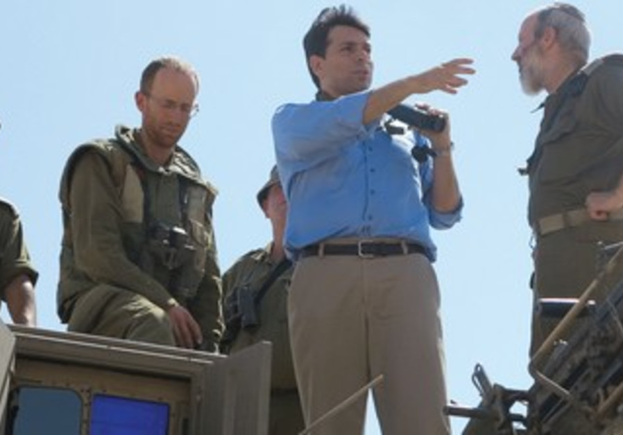 DANNY DANON attends a drill for IDF reservists last week.