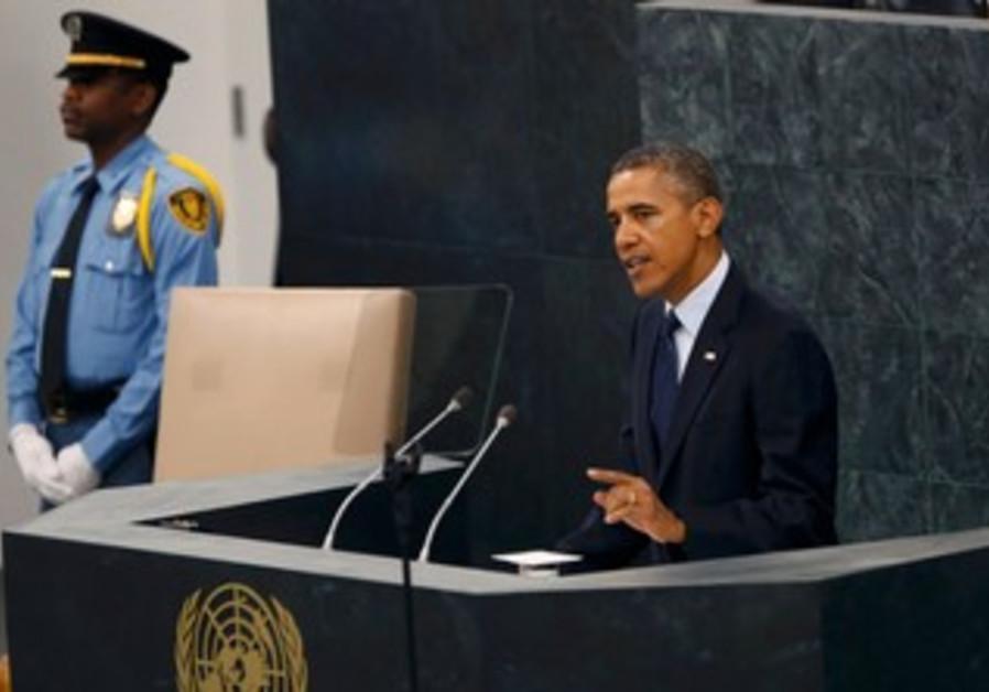 President Barack Obama addressing the UNGA in New York, September 24, 2013.