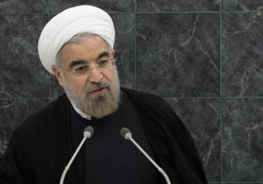 Iran's President Hassan Rouhani address UN, September 24, 2013.