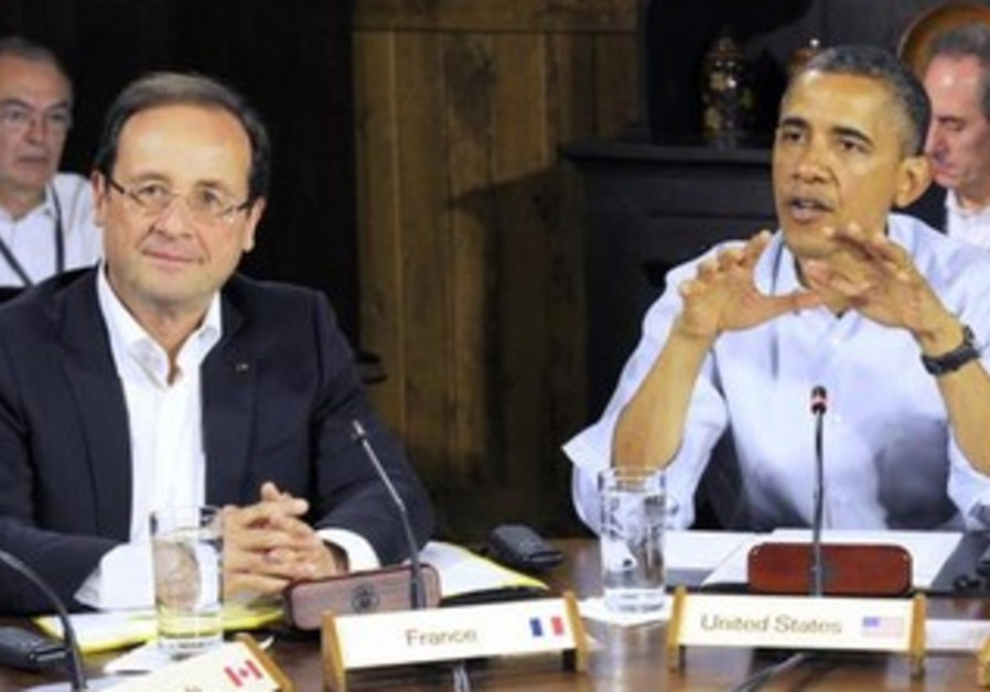 France's President Francois Hollande and US President Barack Obama at the G8 Summit, 2012.