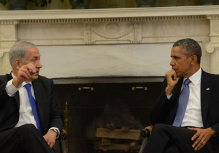 Prime Minister Netanyahu and US President Obama meet at the Oval Office, September 30, 2013.
