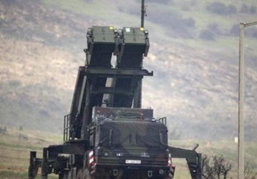 Patriot missile installation on Turkish-Syrian border.